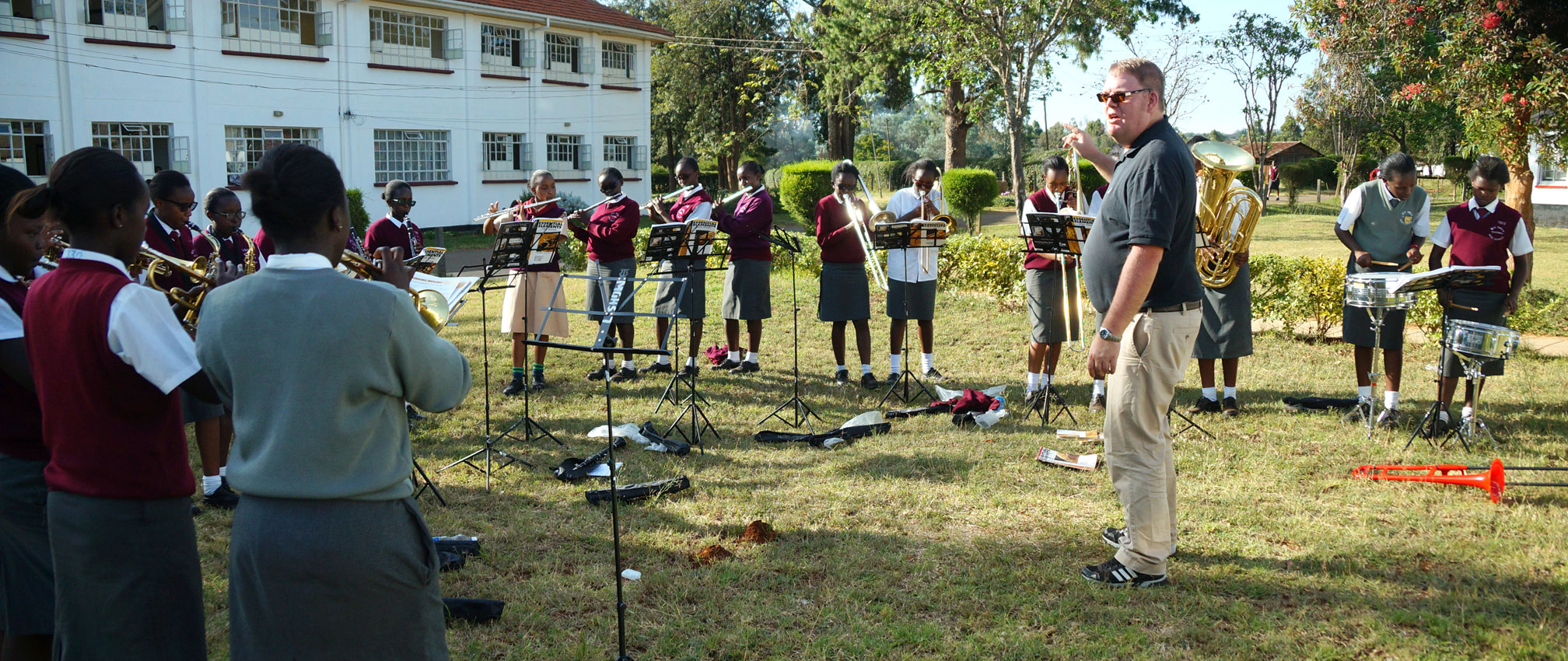 Teaching music in Kenya<br> from 8,000 miles away